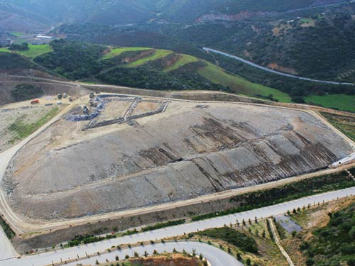 Environmental upgrade and restoration works in the waste disposal site of Pera Galinon